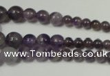 CRO755 15.5 inches 6mm – 14mm round amethyst beads wholesale