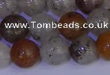 CRO895 15.5 inches 14mm round mixed lodalite quartz beads wholesale