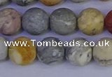 CRO994 15.5 inches 12mm round matte sky eye stone beads wholesale