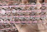 CRQ447 15.5 inches 12mm faceted round rose quartz beads