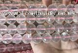 CRQ448 15.5 inches 14mm faceted round rose quartz beads
