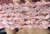 CRQ552 15.5 inches 12mm faceted coin rose quartz beads wholesale