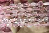 CRQ557 15.5 inches 10*14mm faceted oval rose quartz beads wholesale