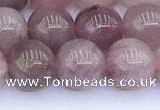 CRQ781 15.5 inches 8mm round Madagascar rose quartz beads