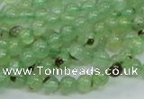 CRU100 15.5 inches 6mm round green rutilated quartz beads wholesale