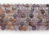 CRU1010 15.5 inches 6mm round mixed rutilated quartz beads