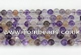 CRU1019 15.5 inches 8mm round mixed rutilated quartz beads