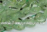CRU107 15.5 inches 12*12mm heart green rutilated quartz beads