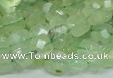 CRU120 15.5 inches 10*10mm faceted square green rutilated quartz beads