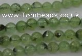 CRU152 15.5 inches 8mm faceted round green rutilated quartz beads