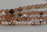 CRU451 15.5 inches 5mm round Multicolor rutilated quartz beads