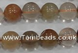 CRU457 15.5 inches 14mm round Multicolor rutilated quartz beads