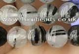 CRU536 15.5 inches 6mm round black rutilated quartz beads wholesale