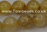 CRU606 15.5 inches 12mm round golden rutilated quartz beads