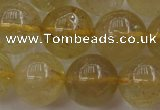 CRU614 15.5 inches 12mm round golden rutilated quartz beads