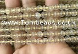 CRU629 15.5 inches 6mm round golden rutilated quartz beads