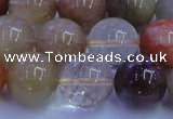 CRU754 15.5 inches 12mm round Multicolor rutilated quartz beads