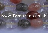 CRU760 15.5 inches 8*10mm rice Multicolor rutilated quartz beads
