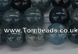 CRU862 15.5 inches 12mm round blue rutilated quartz beads