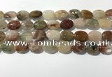 CRU921 15.5 inches 10*14mm oval mixed rutilated quartz beads wholesale