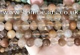 CRU946 15.5 inches 10mm round mixed rutilated quartz beads