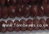 CRZ1014 15.5 inches 4*6mm faceted rondelle A- grade ruby beads