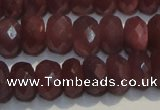 CRZ1022 15.5 inches 4*6mm faceted rondelle A+ grade ruby beads