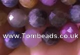 CRZ1131 15.5 inches 6mm faceted round ruby sapphire beads