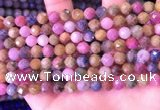 CRZ1141 15.5 inches 7mm faceted round ruby sapphire beads