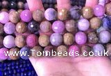 CRZ1145 15.5 inches 12mm faceted round ruby sapphire beads
