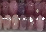 CRZ1154 15.5 inches 5*9mm faceted rondelle natural ruby beads