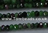 CRZ751 15.5 inches 2.5*4mm faceted rondelle ruby zoisite beads
