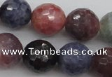 CRZ883 15.5 inches 10mm faceted round natural ruby sapphire beads