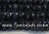 CRZ972 15.5 inches 4*6mm faceted rondelle A- grade sapphire beads