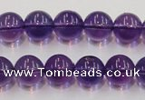 CSA06 15.5 inches 12mm round synthetic amethyst beads wholesale