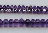 CSA08 15.5 inches 5*8mm rondelle synthetic amethyst beads wholesale
