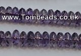CSA23 15.5 inches 5*10mm faceted rondelle synthetic amethyst beads