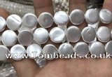 CSB2140 15.5 inches 18mm coin shell pearl beads wholesale