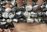 CSB2179 15.5 inches 16*16mm - 20*22mm baroque mixed shell pearl beads
