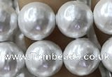 CSB2184 15.5 inches 6mm ball shell pearl beads wholesale