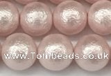 CSB2233 15.5 inches 10mm round wrinkled shell pearl beads wholesale