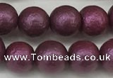 CSB2253 15.5 inches 10mm round wrinkled shell pearl beads wholesale