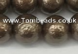 CSB2314 15.5 inches 12mm round wrinkled shell pearl beads wholesale