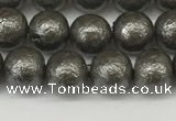 CSB2321 15.5 inches 6mm round wrinkled shell pearl beads wholesale