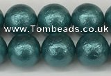 CSB2333 15.5 inches 10mm round wrinkled shell pearl beads wholesale