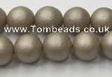 CSB2501 15.5 inches 6mm round matte wrinkled shell pearl beads