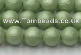 CSB2531 15.5 inches 6mm round matte wrinkled shell pearl beads