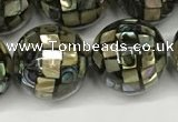 CSB4102 15.5 inches 14mm ball abalone shell beads wholesale