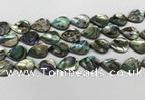 CSB4138 15.5 inches 13*18mm flat teardrop abalone shell beads