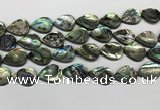 CSB4139 15.5 inches 15*20mm flat teardrop abalone shell beads